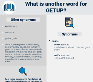 getup, synonym getup, another word for getup, words like getup, thesaurus getup