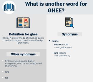 ghee, synonym ghee, another word for ghee, words like ghee, thesaurus ghee