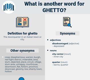 ghetto, synonym ghetto, another word for ghetto, words like ghetto, thesaurus ghetto
