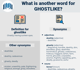 ghostlike, synonym ghostlike, another word for ghostlike, words like ghostlike, thesaurus ghostlike