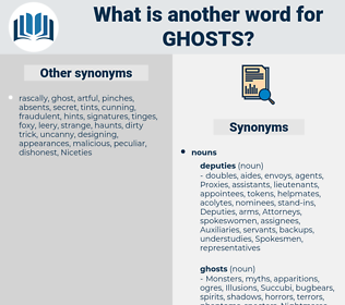 ghosts, synonym ghosts, another word for ghosts, words like ghosts, thesaurus ghosts
