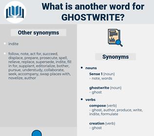 ghostwrite, synonym ghostwrite, another word for ghostwrite, words like ghostwrite, thesaurus ghostwrite