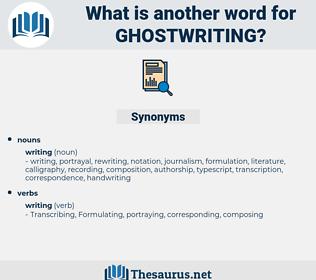 ghostwriting, synonym ghostwriting, another word for ghostwriting, words like ghostwriting, thesaurus ghostwriting