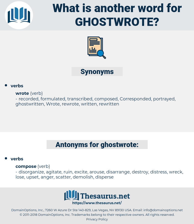 ghostwrote, synonym ghostwrote, another word for ghostwrote, words like ghostwrote, thesaurus ghostwrote