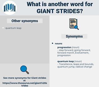 giant strides, synonym giant strides, another word for giant strides, words like giant strides, thesaurus giant strides