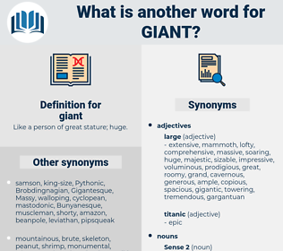giant, synonym giant, another word for giant, words like giant, thesaurus giant