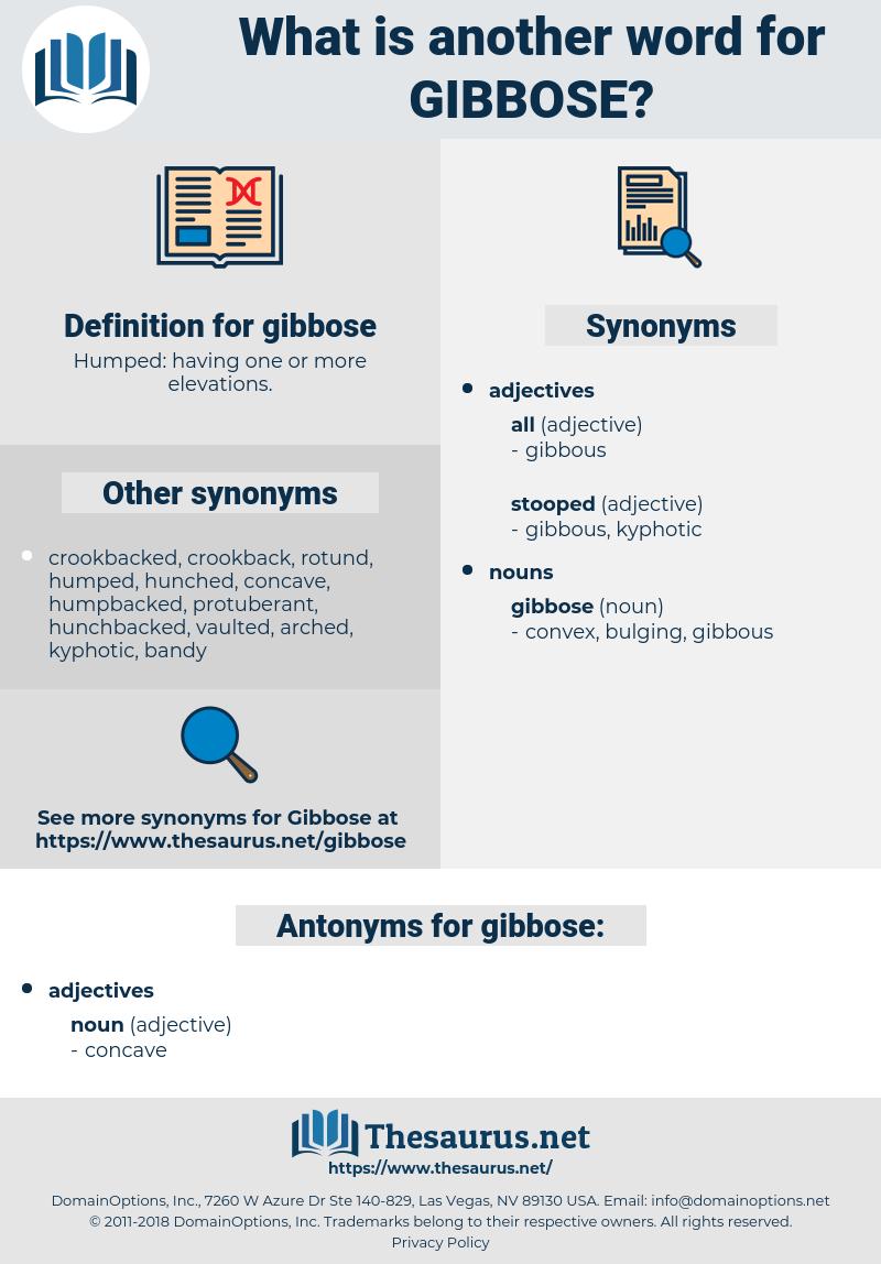 gibbose, synonym gibbose, another word for gibbose, words like gibbose, thesaurus gibbose