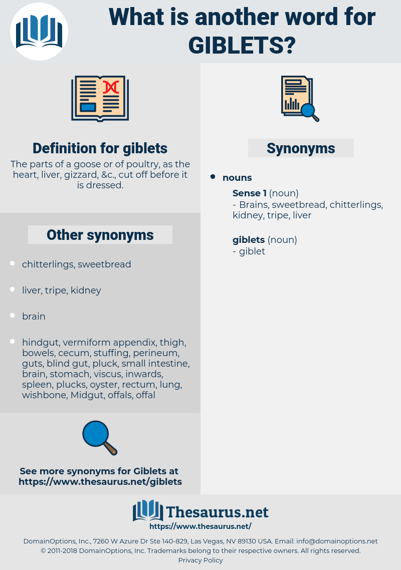 giblets, synonym giblets, another word for giblets, words like giblets, thesaurus giblets
