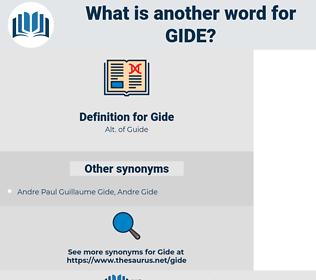 Gide, synonym Gide, another word for Gide, words like Gide, thesaurus Gide