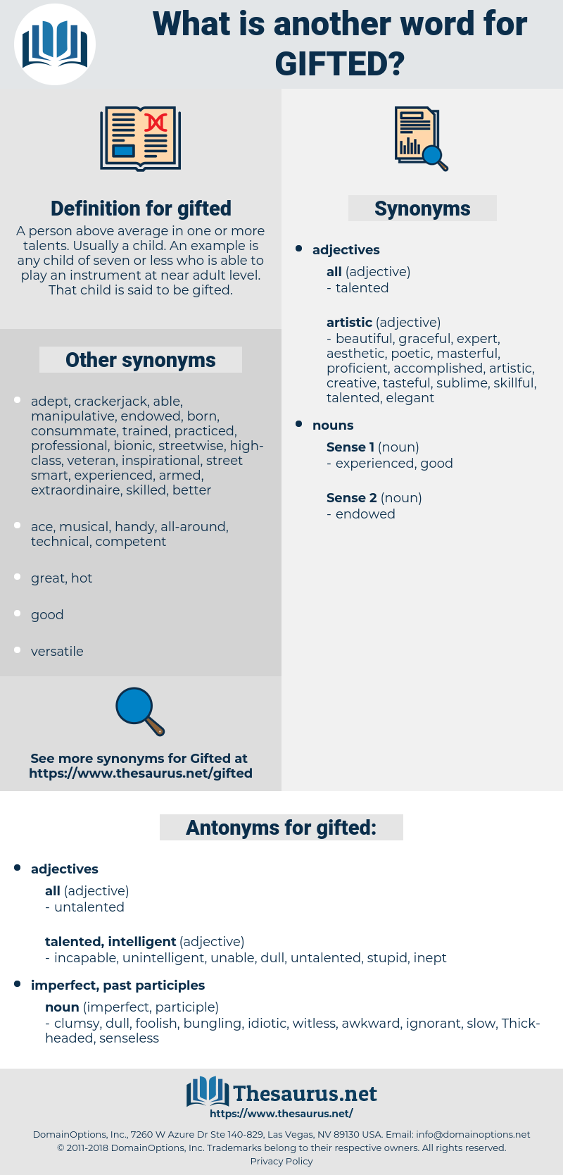 gifted, synonym gifted, another word for gifted, words like gifted, thesaurus gifted