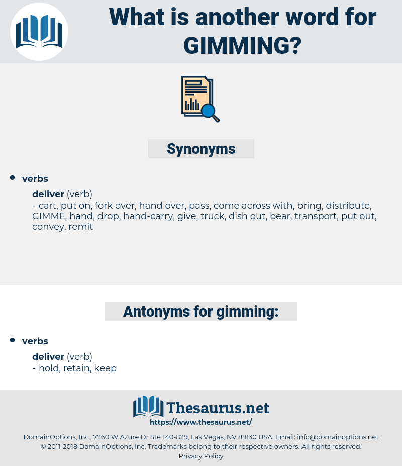 gimming, synonym gimming, another word for gimming, words like gimming, thesaurus gimming