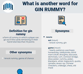 gin rummy, synonym gin rummy, another word for gin rummy, words like gin rummy, thesaurus gin rummy
