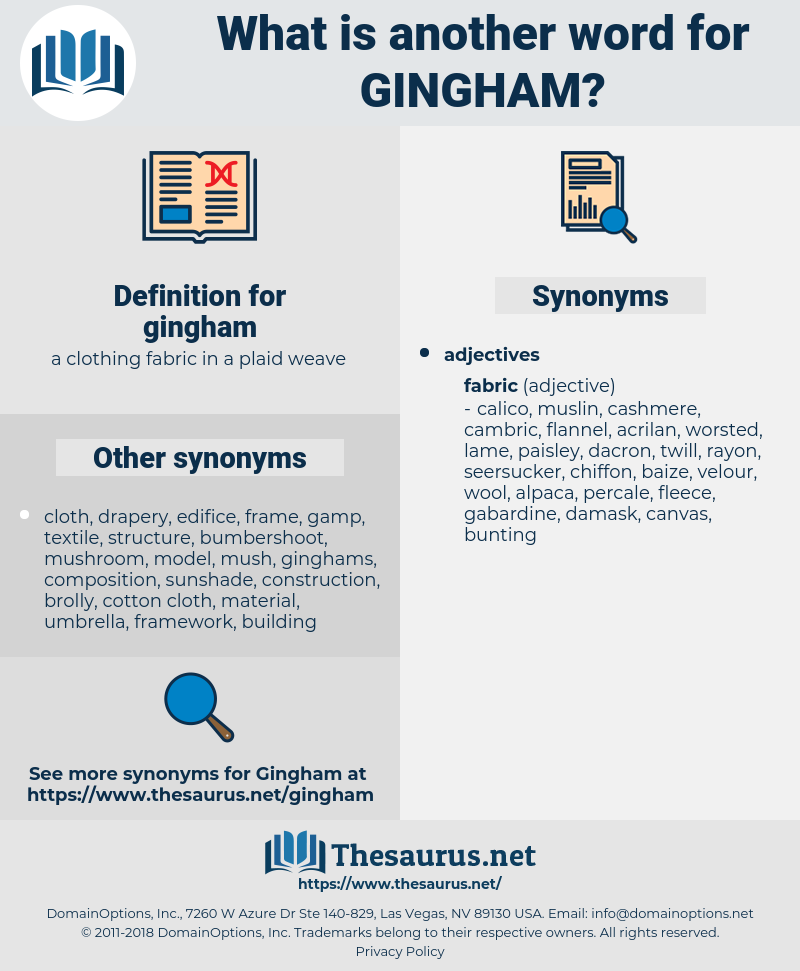 gingham, synonym gingham, another word for gingham, words like gingham, thesaurus gingham
