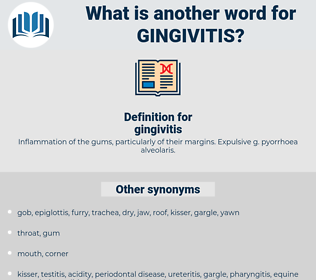 gingivitis, synonym gingivitis, another word for gingivitis, words like gingivitis, thesaurus gingivitis