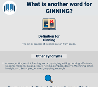 Ginning, synonym Ginning, another word for Ginning, words like Ginning, thesaurus Ginning