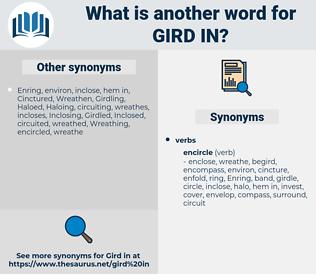 gird in, synonym gird in, another word for gird in, words like gird in, thesaurus gird in