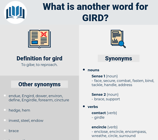gird, synonym gird, another word for gird, words like gird, thesaurus gird