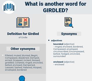 Girdled, synonym Girdled, another word for Girdled, words like Girdled, thesaurus Girdled