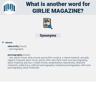 girlie magazine, synonym girlie magazine, another word for girlie magazine, words like girlie magazine, thesaurus girlie magazine
