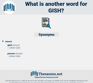 gish, synonym gish, another word for gish, words like gish, thesaurus gish