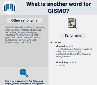 gismo, synonym gismo, another word for gismo, words like gismo, thesaurus gismo
