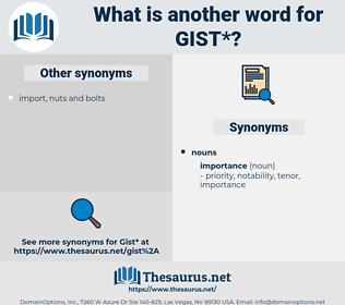gist, synonym gist, another word for gist, words like gist, thesaurus gist