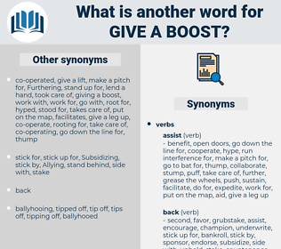 give a boost, synonym give a boost, another word for give a boost, words like give a boost, thesaurus give a boost
