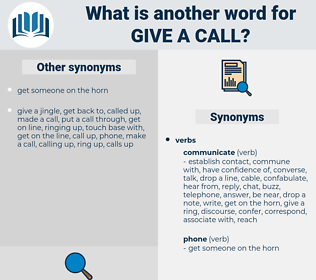 give a call, synonym give a call, another word for give a call, words like give a call, thesaurus give a call