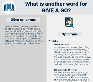 give a go, synonym give a go, another word for give a go, words like give a go, thesaurus give a go