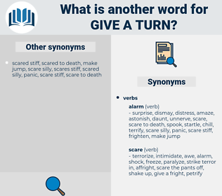 give a turn, synonym give a turn, another word for give a turn, words like give a turn, thesaurus give a turn