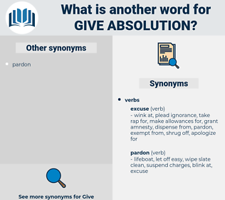 give absolution, synonym give absolution, another word for give absolution, words like give absolution, thesaurus give absolution