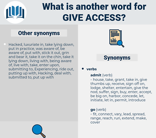 give access, synonym give access, another word for give access, words like give access, thesaurus give access