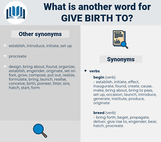 give birth to, synonym give birth to, another word for give birth to, words like give birth to, thesaurus give birth to
