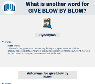 give blow by blow, synonym give blow by blow, another word for give blow by blow, words like give blow by blow, thesaurus give blow by blow