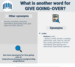 give going over, synonym give going over, another word for give going over, words like give going over, thesaurus give going over