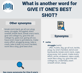 give it one's best shot, synonym give it one's best shot, another word for give it one's best shot, words like give it one's best shot, thesaurus give it one's best shot