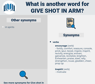 give shot in arm, synonym give shot in arm, another word for give shot in arm, words like give shot in arm, thesaurus give shot in arm