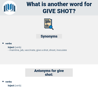 give shot, synonym give shot, another word for give shot, words like give shot, thesaurus give shot