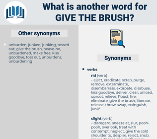 give the brush, synonym give the brush, another word for give the brush, words like give the brush, thesaurus give the brush