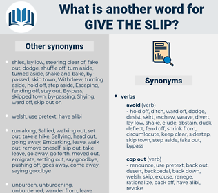 give the slip, synonym give the slip, another word for give the slip, words like give the slip, thesaurus give the slip