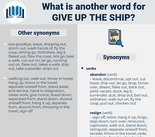 give up the ship, synonym give up the ship, another word for give up the ship, words like give up the ship, thesaurus give up the ship