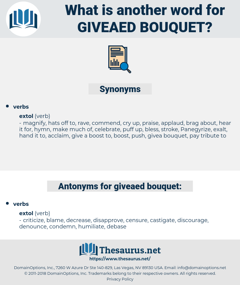 giveaed bouquet, synonym giveaed bouquet, another word for giveaed bouquet, words like giveaed bouquet, thesaurus giveaed bouquet