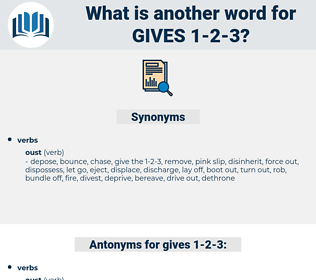 gives 1 2 3, synonym gives 1 2 3, another word for gives 1 2 3, words like gives 1 2 3, thesaurus gives 1 2 3