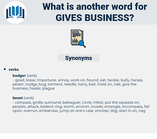 gives business, synonym gives business, another word for gives business, words like gives business, thesaurus gives business