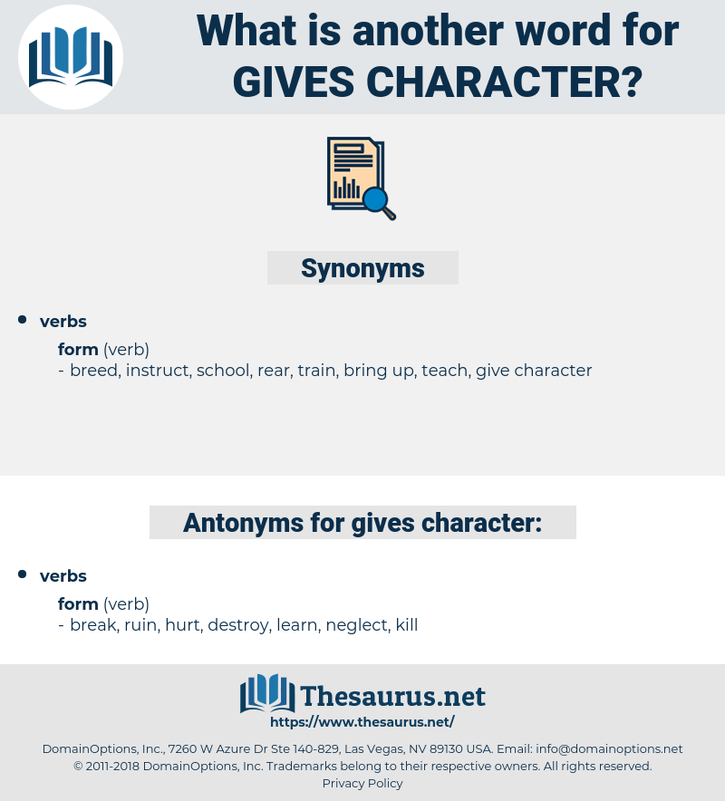 gives character, synonym gives character, another word for gives character, words like gives character, thesaurus gives character