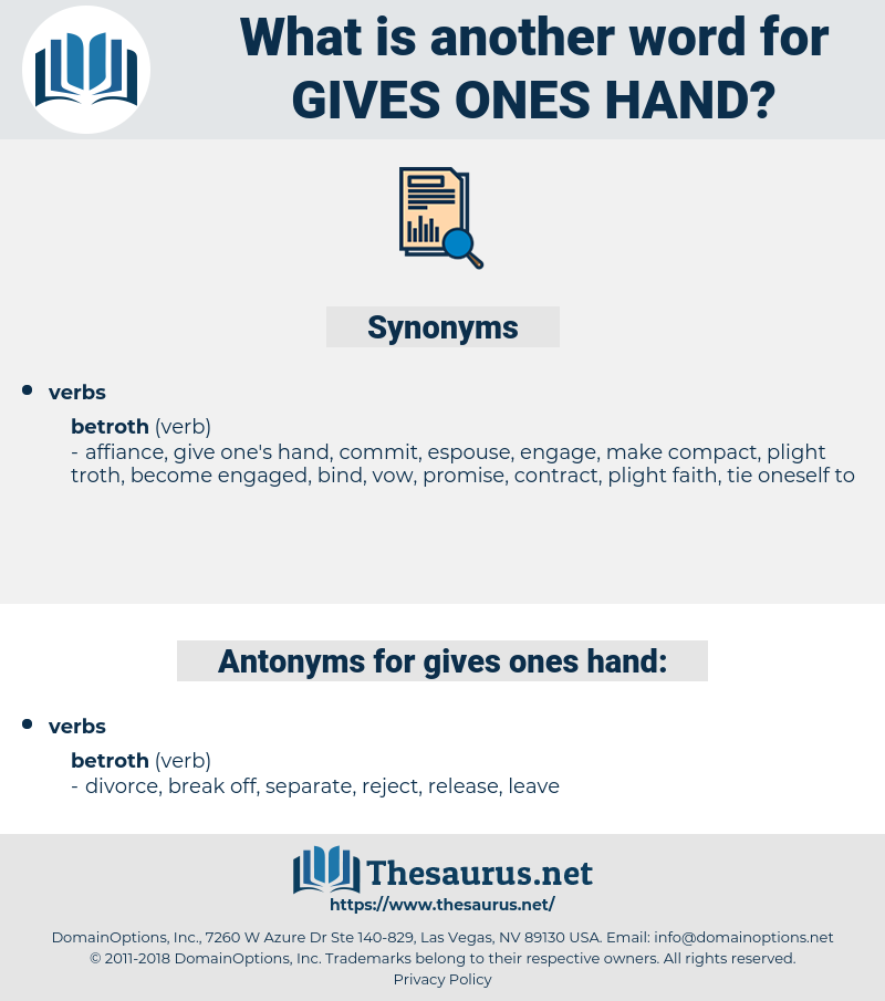 gives ones hand, synonym gives ones hand, another word for gives ones hand, words like gives ones hand, thesaurus gives ones hand