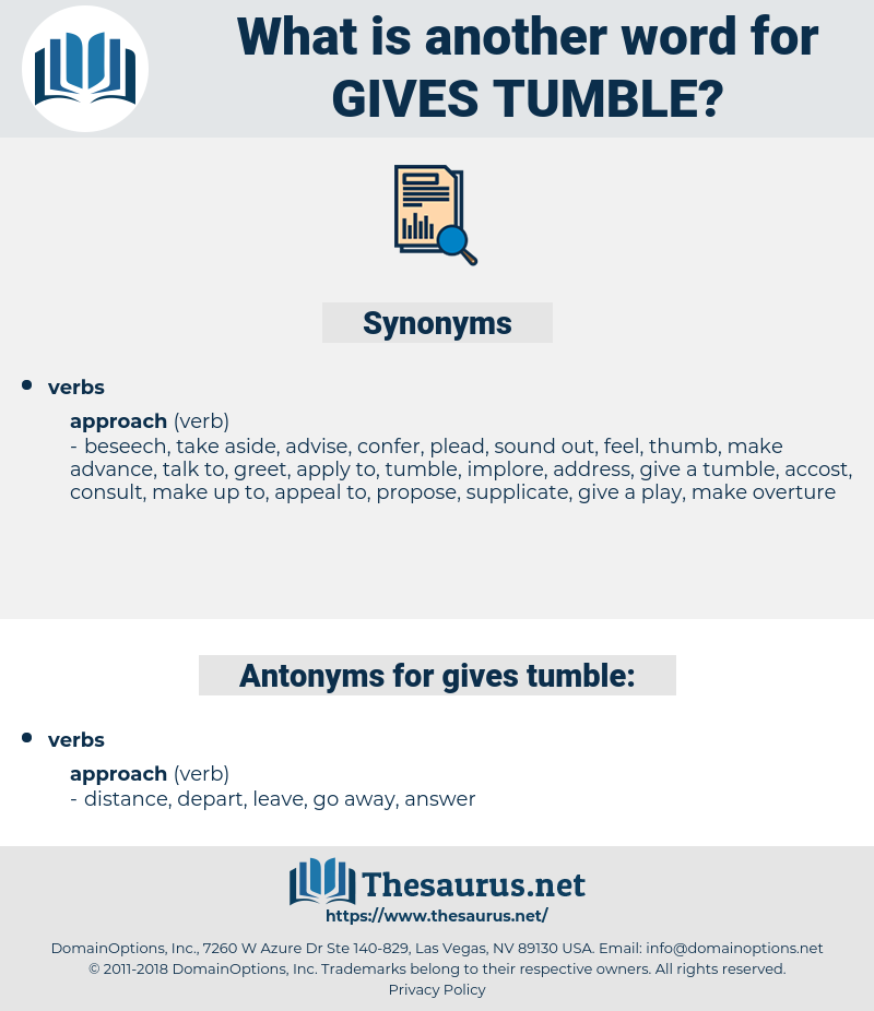gives tumble, synonym gives tumble, another word for gives tumble, words like gives tumble, thesaurus gives tumble