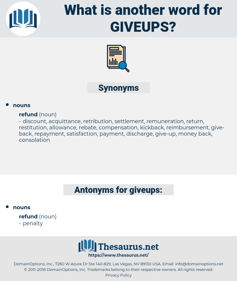 giveups, synonym giveups, another word for giveups, words like giveups, thesaurus giveups