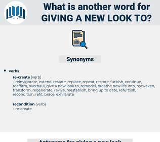 giving a new look to, synonym giving a new look to, another word for giving a new look to, words like giving a new look to, thesaurus giving a new look to