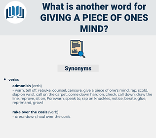 giving a piece of ones mind, synonym giving a piece of ones mind, another word for giving a piece of ones mind, words like giving a piece of ones mind, thesaurus giving a piece of ones mind